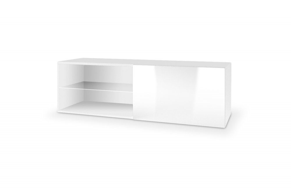 Závěsný TV stolek LIVO RTV-120W bílá Halmar