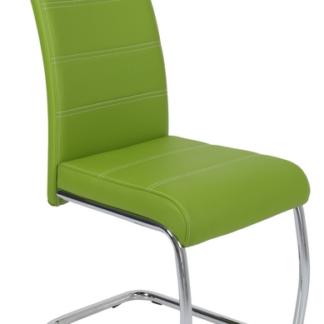 Jídelní židle Flora, zelená ekokůže