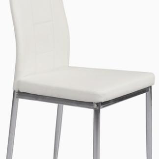 Jídelní židle Melanie, bílá ekokůže