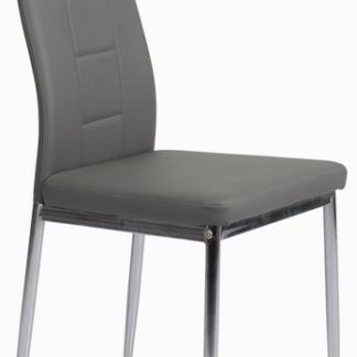 Jídelní židle Melanie, šedá ekokůže