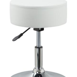 Barová stolička Rocohal, bílá ekokůže
