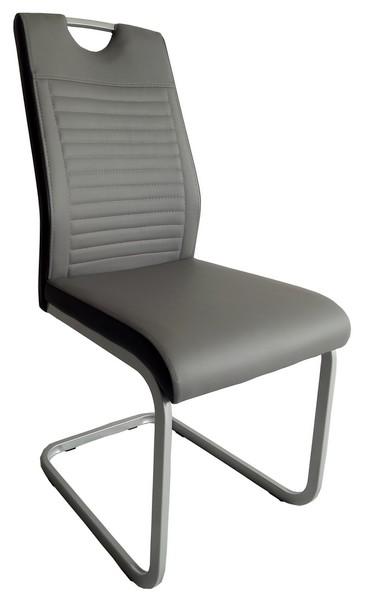 Jídelní židle Rindul, šedá/černá ekokůže