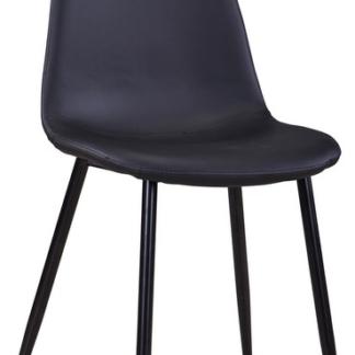 Jídelní židle Loof, černá ekokůže