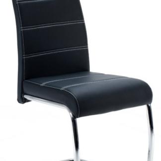 Jídelní židle Flora, černá ekokůže