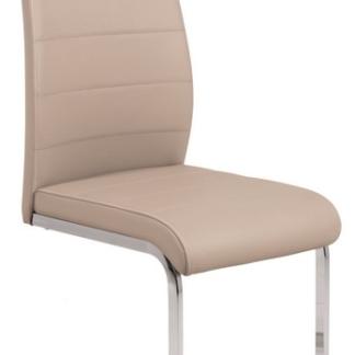 Jídelní židle Amber 4, cappuccino ekokůže