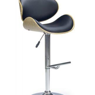 Barová židle H-44 Halmar světlý dub/černá