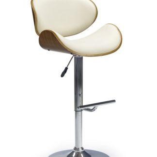 Barová židle H-44 Halmar ořech/krémová