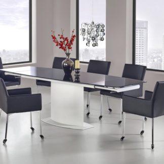 Jídelní rozkládací stůl ANDERSON černá / bílá Halmar