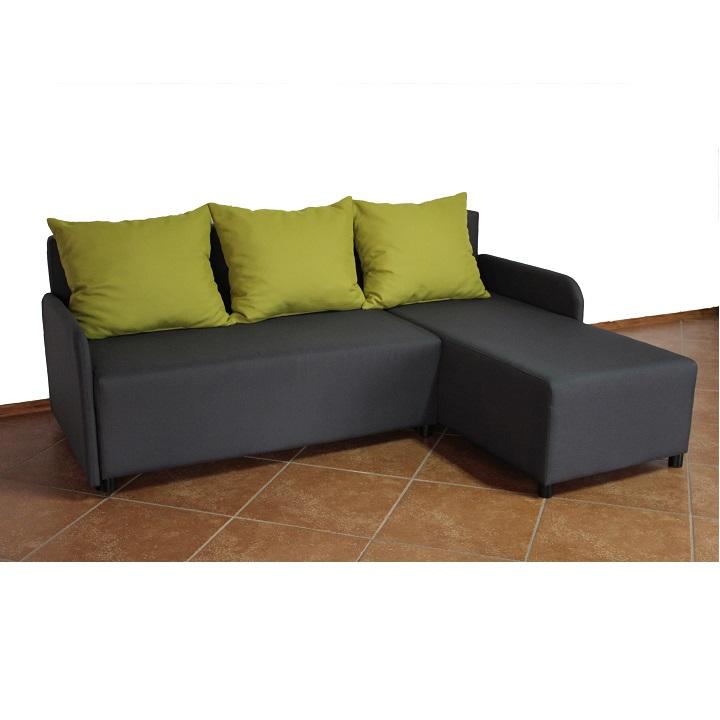 Rohová sedací souprava, tmavě šedá / zelená, pravá, BODRUM 0000195309 Tempo Kondela
