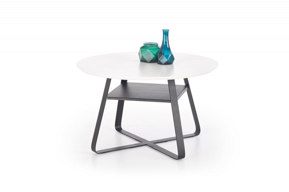 Konferenční stolek REDO bílá / černá Halmar