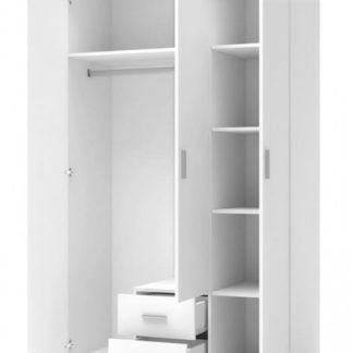 Šatní skříň Lima S3 bílá - HALMAR