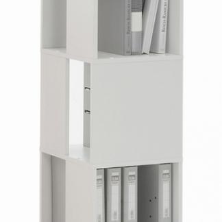 Otočný regál Tower, bílý