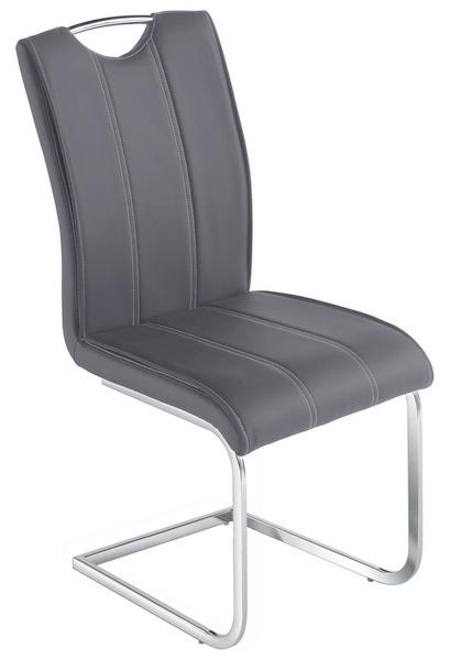 Jídelní židle Elza, šedá ekokůže