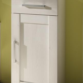 Koupelnová boční skříňka Poseidon, bělený modřín