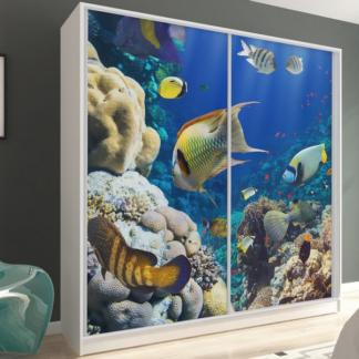 Šatní skříň Inspirato, motiv akvárium