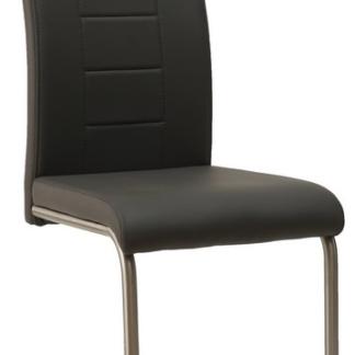 Jídelní židle Cindy, tmavě šedá ekokůže