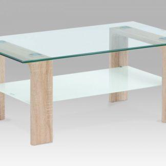 Konferenční stolek AF-2037 SON dub sonoma / čiré sklo Autronic