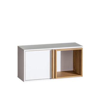 Závěsná skříňka KNOX E9 ořech select / bílá Tempo Kondela