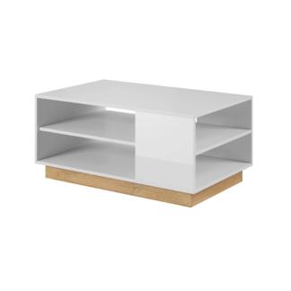 Konferenční stolek, bílá / dub grandson, CITY 0000239432 Tempo Kondela