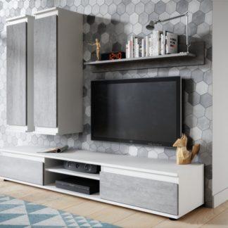 Obývací stěna Lado bílá/beton - FALCO