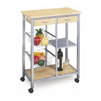 Kuchyňský vozík HELGA buk / kov Tempo Kondela