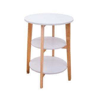 Odkládací stolek KASE bílá / přírodní Tempo Kondela