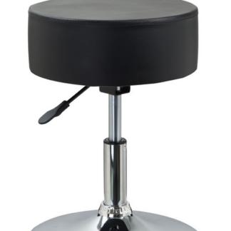 Barová stolička Rocohal, černá ekokůže