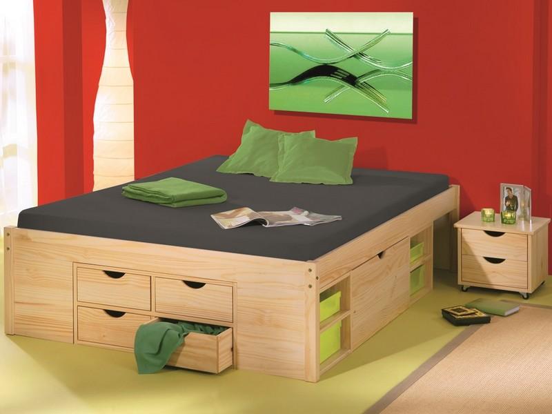 Úložná postel s nočními stolky Claas 160x200 cm