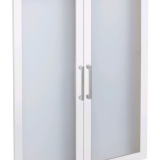Sada skleněných dveří (2 ks) Calvia 12, bílá