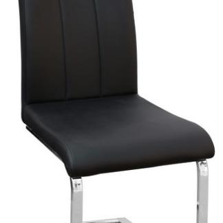 Jídelní židle Alberta, černá ekokůže