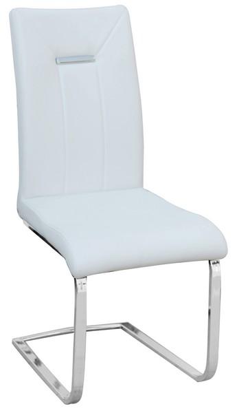 Jídelní židle Alberta, bílá ekokůže