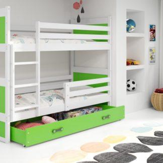 Dětská patrová postel Rico bílá - BM