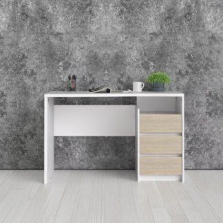 Psací stůl Function Plus 80123 bílá/dub - TVI