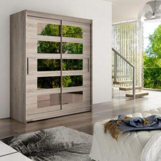 Šatní skříň Westa V s posuvnými dveřmi se zrcadlem - Ank