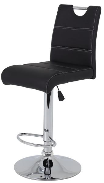 Barová židle Miranda, černá ekokůže