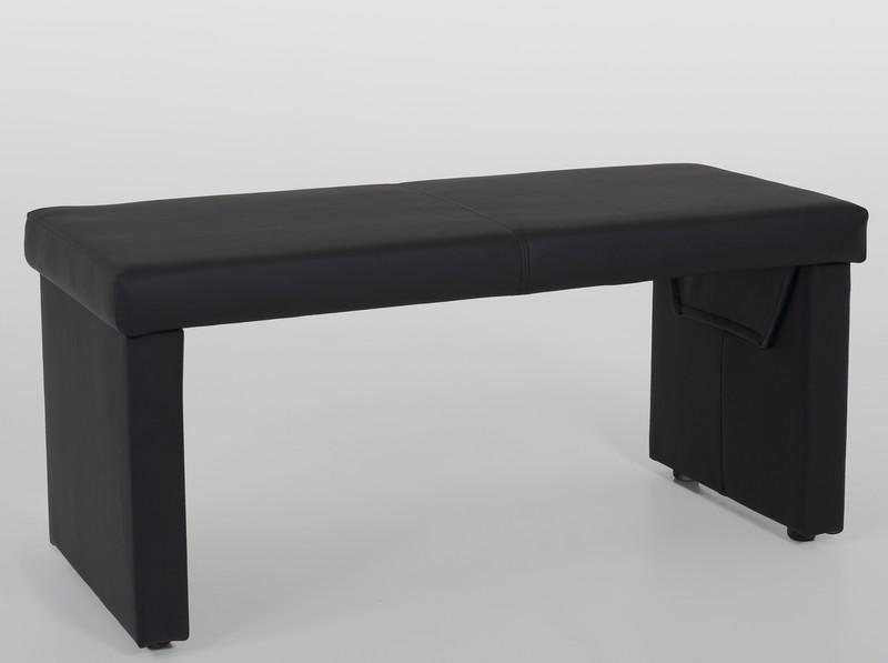 Jídelní lavice Taina 2B, černá ekokůže