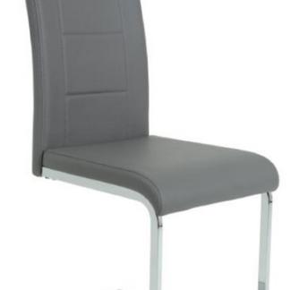Jídelní židle Joana, šedá ekokůže