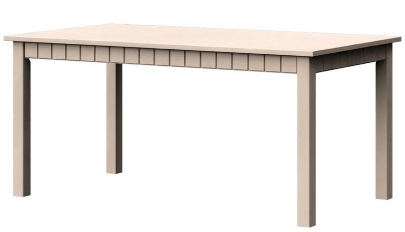 Jídelní stůl Atik JS 160x90 cm, vanilka patina