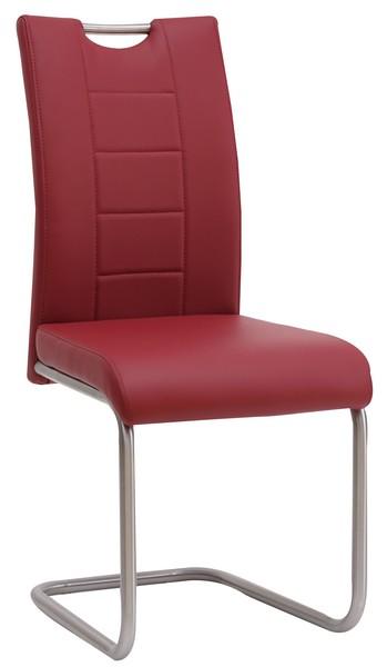 Jídelní židle Cindy, červená ekokůže