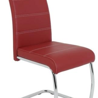 Jídelní židle Flora, bordó ekokůže