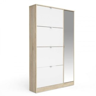 Botník se zrcadlem Bright 41061 dub sonoma/bílý lesk - TVI