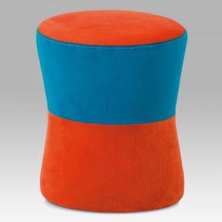 Taburet TAB-102 ORA2 oranžová / modrá Autronic