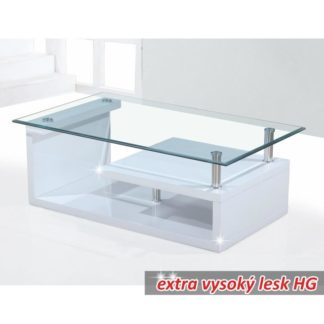 Konferenční stolek JULIEN bílá lesk HG Tempo Kondela