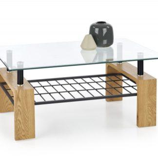 Konferenční stolek ESTELLA dub zlatý / černá Halmar
