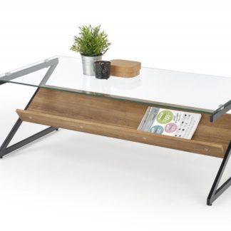 Konferenční stolek IZEDA ořech medový / černá Halmar