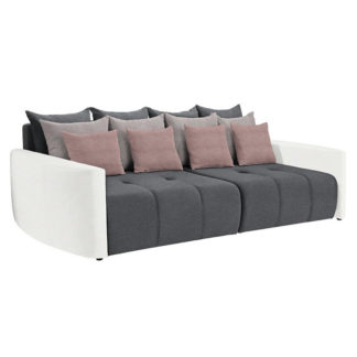 Prostorná pohovka, bílá/šedá/světle šedá/pudrově růžové, PORTO BIG SOFA 0000239515 Tempo Kondela