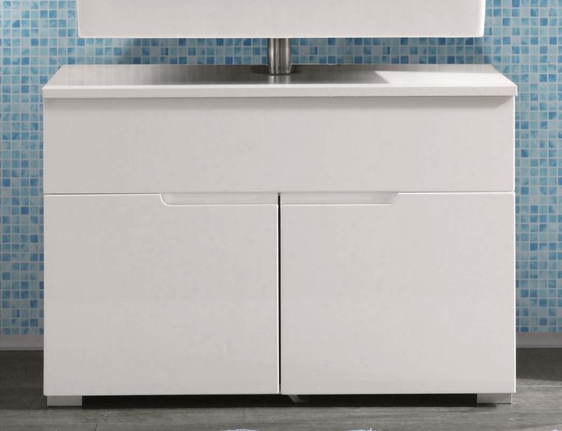 Koupelnová skříňka pod umyvadlo Spice, lesklá bílá