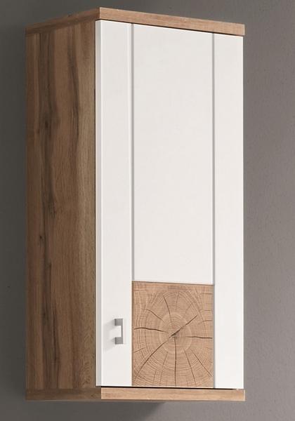Koupelnová závěsná skříňka Spalt, divoký dub wotan/bílá