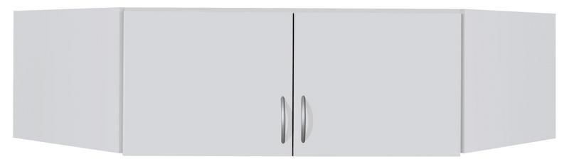 Rohový skříňový nástavec Case, bílý