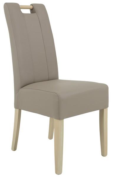 Jídelní židle Jasmin 1, béžová ekokůže